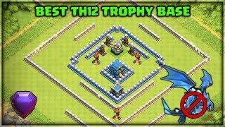 Best Th12 Trophy Base with 3 Inferno Towers | Anti Electro | Clash of Clans