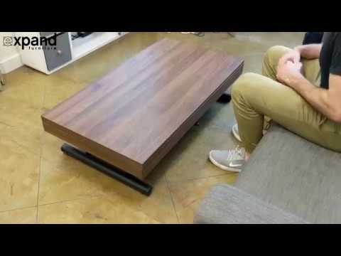 Alzare Coffee Table Converts Into 6 Person Dinner With Hydraulic Lift System Youtube