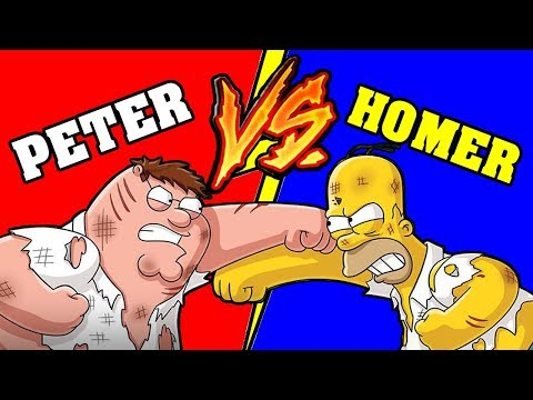 Homer Simpson VS Peter Griffin - Battaglia Rap Epica - Manuel Aski