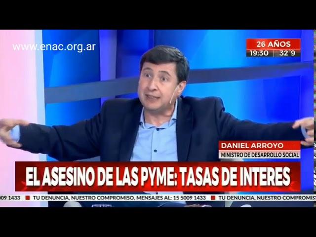 Tasas usurarias y bancos no solidarios - ENAC en Crónica TV