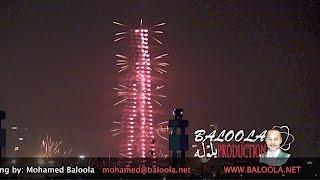 New year 2017 Dubai Burj Khalifa & Dubai Water Canal Firework & dancing fountain Festival City