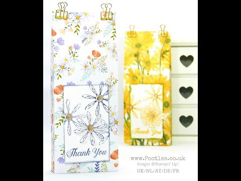 Enormous Paper Bag using Stampin' Up! Delightful Daisy