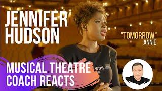 Musical Theatre Coach Reacts (JENNIFER HUDSON, TOMORROW)