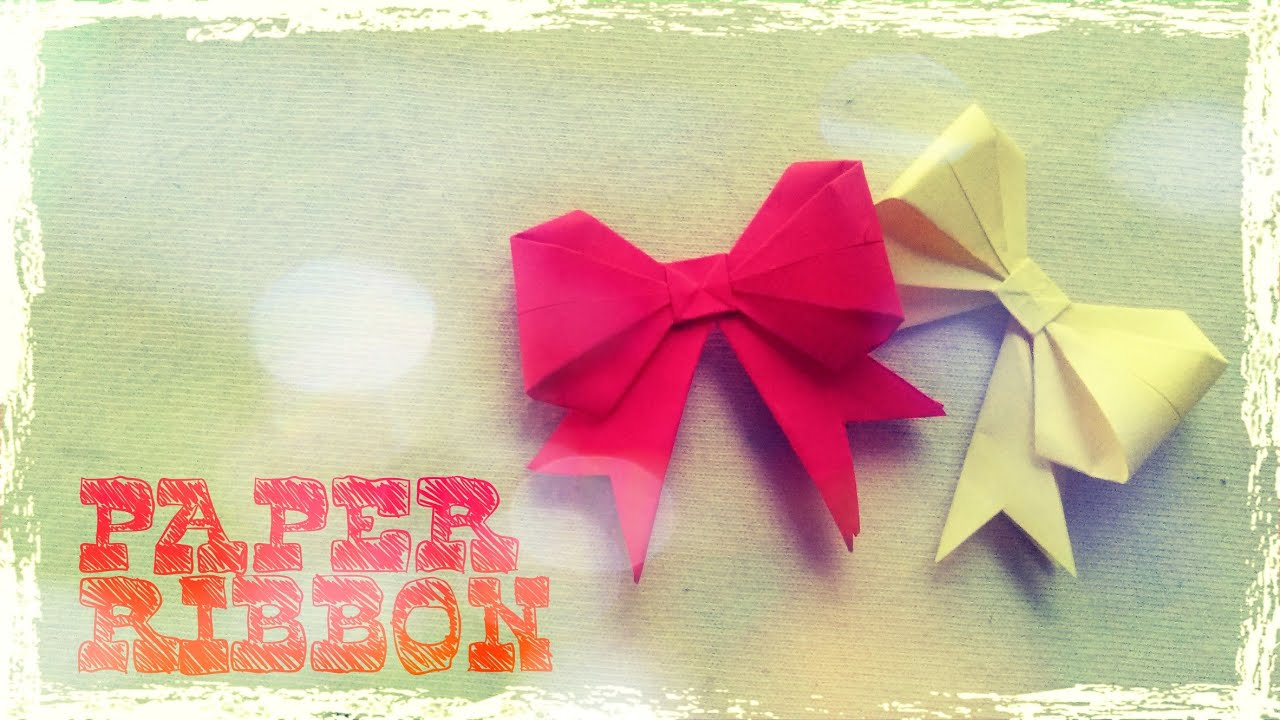 Origami Bow Folding Instructions | 720x1280