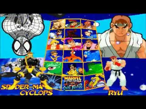 [HD] - Fightcade - Marvel Super Heroes Vs Street Fighter - MC-Invasion(USA) Vs Agito(JPN)