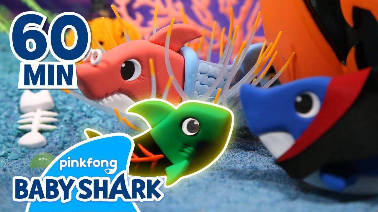 Clay Halloween Sharks | +60MIN | Halloween Shark Family | Holiday Special | Baby Shark Official