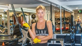 Baskin Champion Bosu ball workout - How to  get a model body - toning- fat burning