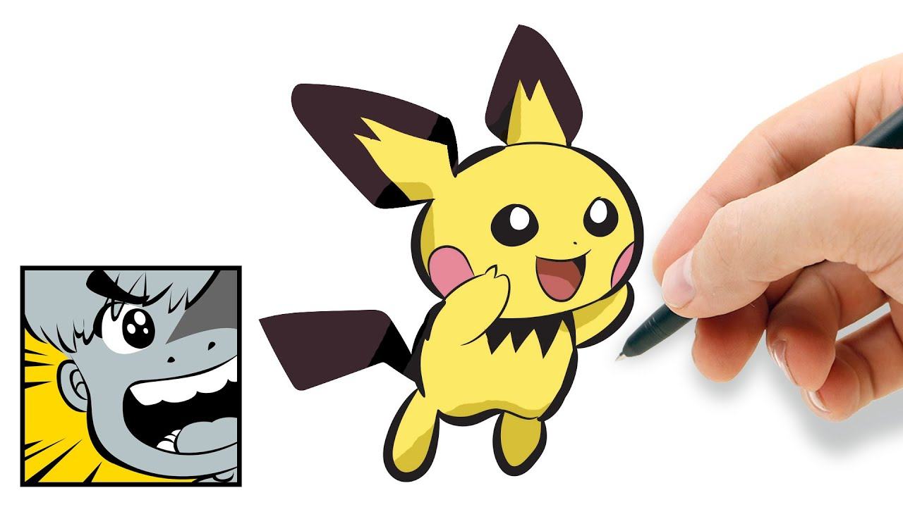 How to draw Pichu - YouTube