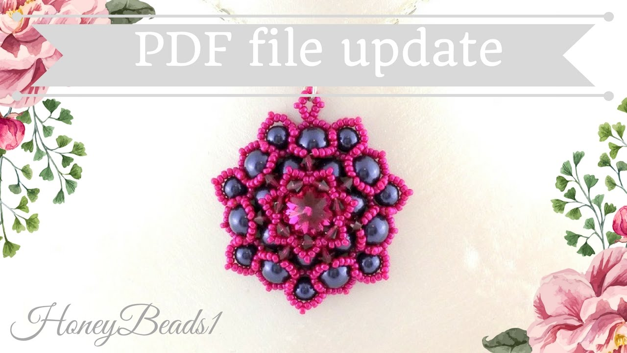 Pdf File Lotus Flower Pendant By Honeybeads1 Youtube