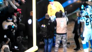 Carolina Panthers fan fall from stands
