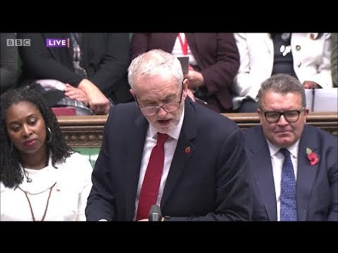 Jeremy Corbyn #PMQs for 1st November, 2017
