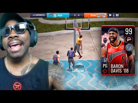 VENICE BEACH 3v3 CAMPAIGN + 99 OVR BARON DAVIS! NBA Live Mobile 19 Season 3 Ep. 50