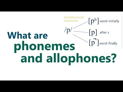 What are phonemes and allophones?