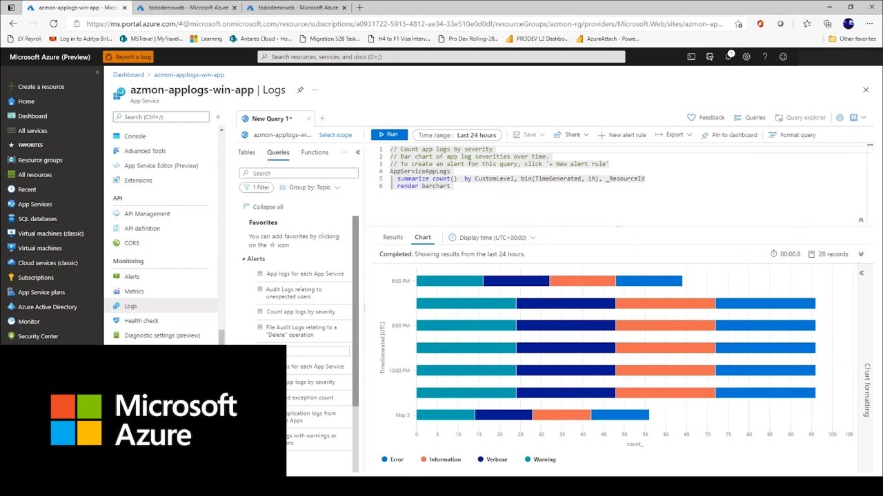 How to use Azure Log Monitoring for your .NET Web Apps