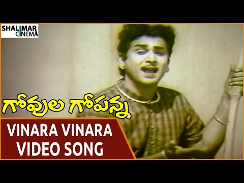 Govula Gopanna Movie || Vinara Vinara Naruda Video Song || ANR, Bharathi || Shalimarcinema
