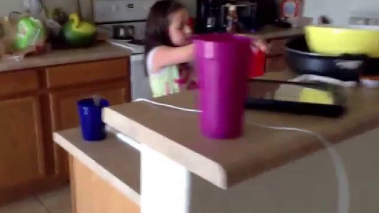 Little girl shits herself !!!