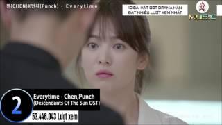 10 Bài Hát Nhạc Phim Drama Hàn Quốc Đạt Nhiều Lượt Xem Nhất (15/7/2017)