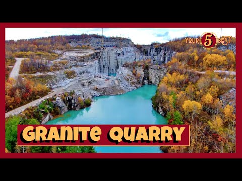 ROCK OF AGES Granite Quarry - Barre, Vermont - 4k Drone Video
