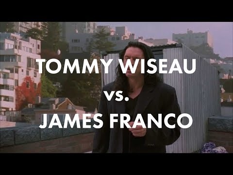 "Tommy Wiseau in The Room vs. James Franco in The Disaster Artist (""I did not hit her "" scene)"