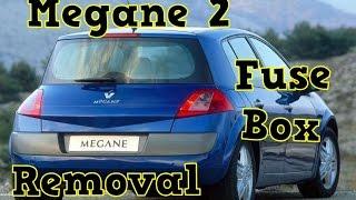renualt megane 2 engine fuse box removal - youtube  youtube
