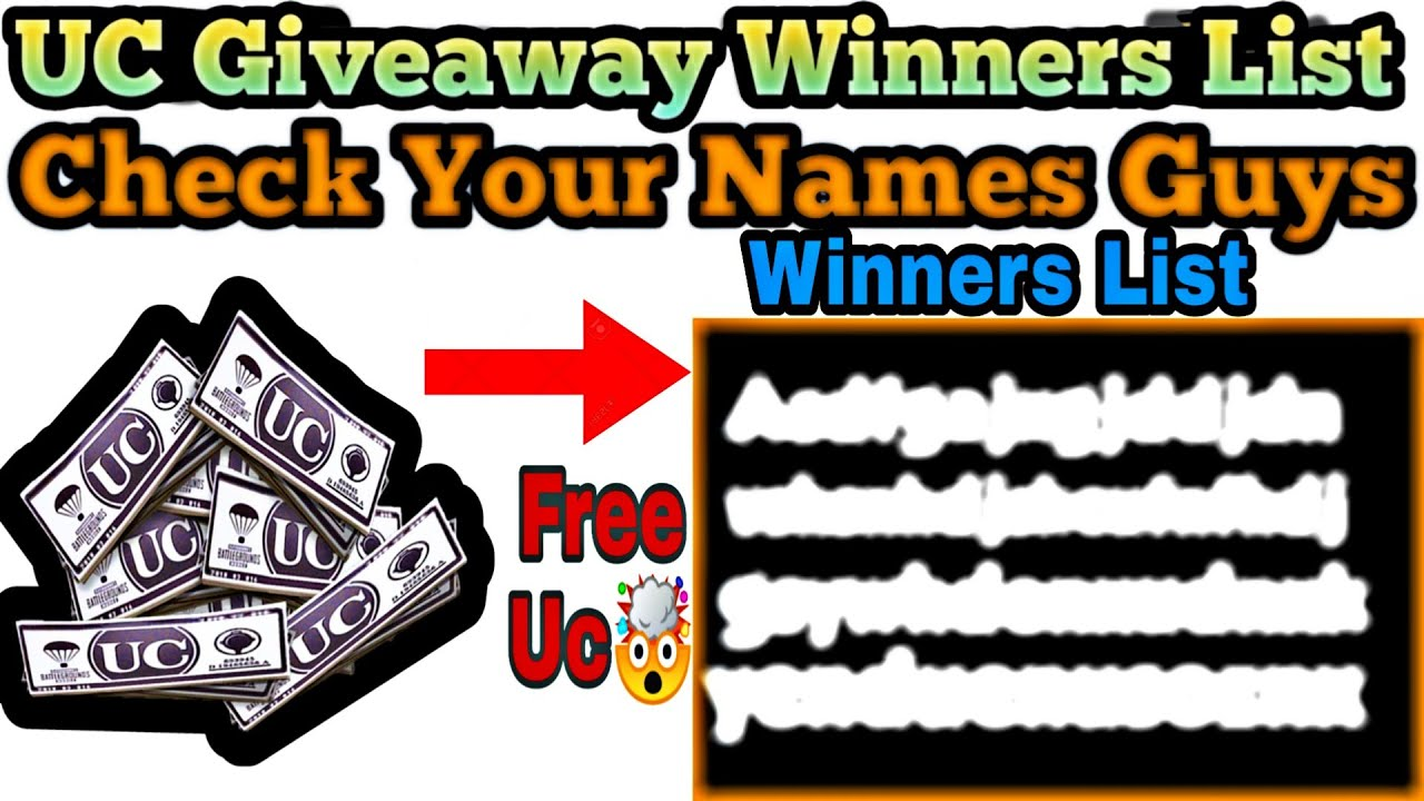 FREE UC Lelo Friends. Uc Giveaway Results Live. Check your name in list. Watch Full Video. PUBG M.