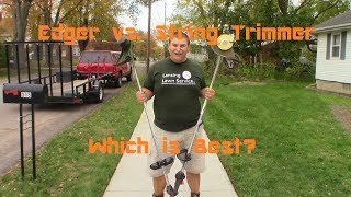Edger vs. String Trimmer - Which One is Better for Edging