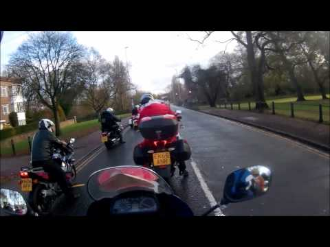 Cambridge Bikers Christmas Toy Run 2016 - Helmet Cam POV
