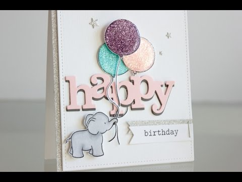 Glitter Birthday Card