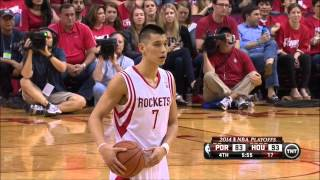 Jeremy Lin 2014 PLAYOFFS: R1G1 vs. Blazers