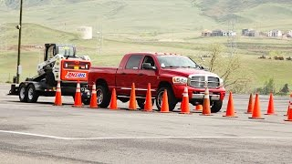 Trailer Tow Obstacle Course - Day 2 of 2015 Diesel Power Challenge!