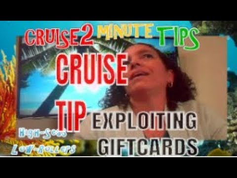 Today's Cruise2 Minute Tip: Use Carnival Cruise Gift Cards & Save Vacation Travel Trip Money