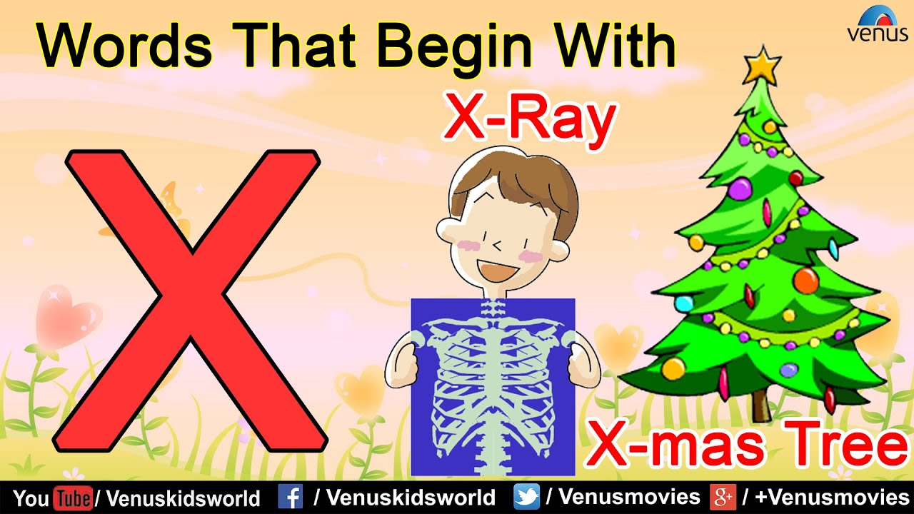 Christmas Words That Start With A.Words That Begin With X