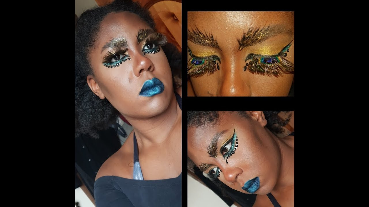 c8db1637a09 Avant Garde Peacock Makeup Look | ft. Fever Eyelashes - YouTube