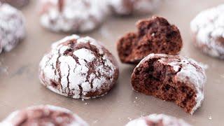 バターなしで!濃厚チョコレート・ソフトクッキーの作り方 Chocolate Crinkle Cookies|HidaMari Cooking