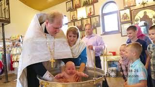 Видеосъемка Таинства Крещения в Москве
