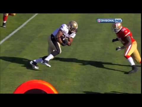 Donte Whitner HARD hit Pierre Thomas   49ers vs  Saints HD