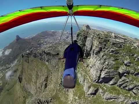 Hang gliding on the North Face of Table Mountain