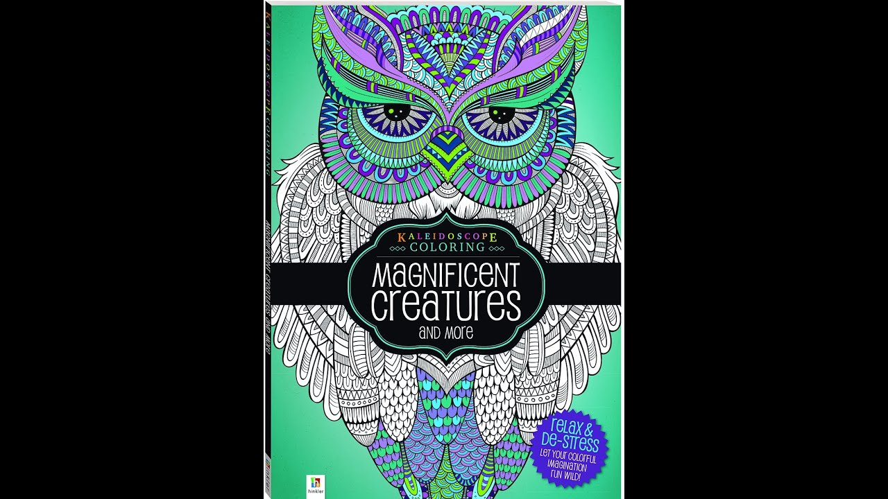 flip through kaleidoscope coloring magnificent creatures and more coloring book youtube