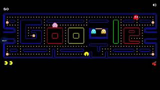 Funny game play of Pac man