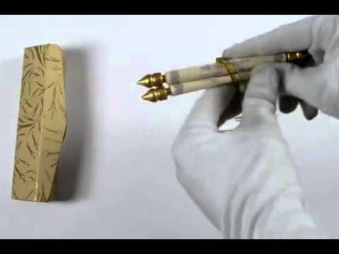 S 0366, Hochzeitseinladung Schriftrolle Aliyah Creme Gold