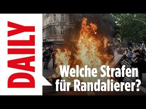 G20-Randalierer - Welche Strafen drohen ihnen? - BILD Daily live 10.07.2017
