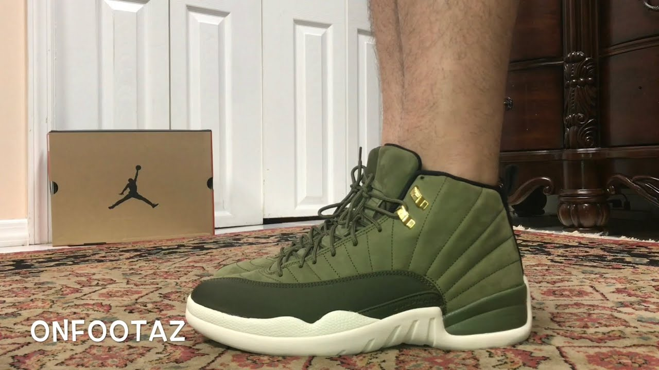 6ce9ec51c90 Air Jordan 12 XII Chris Paul CP3 Class of 2003 Olive On Foot - YouTube