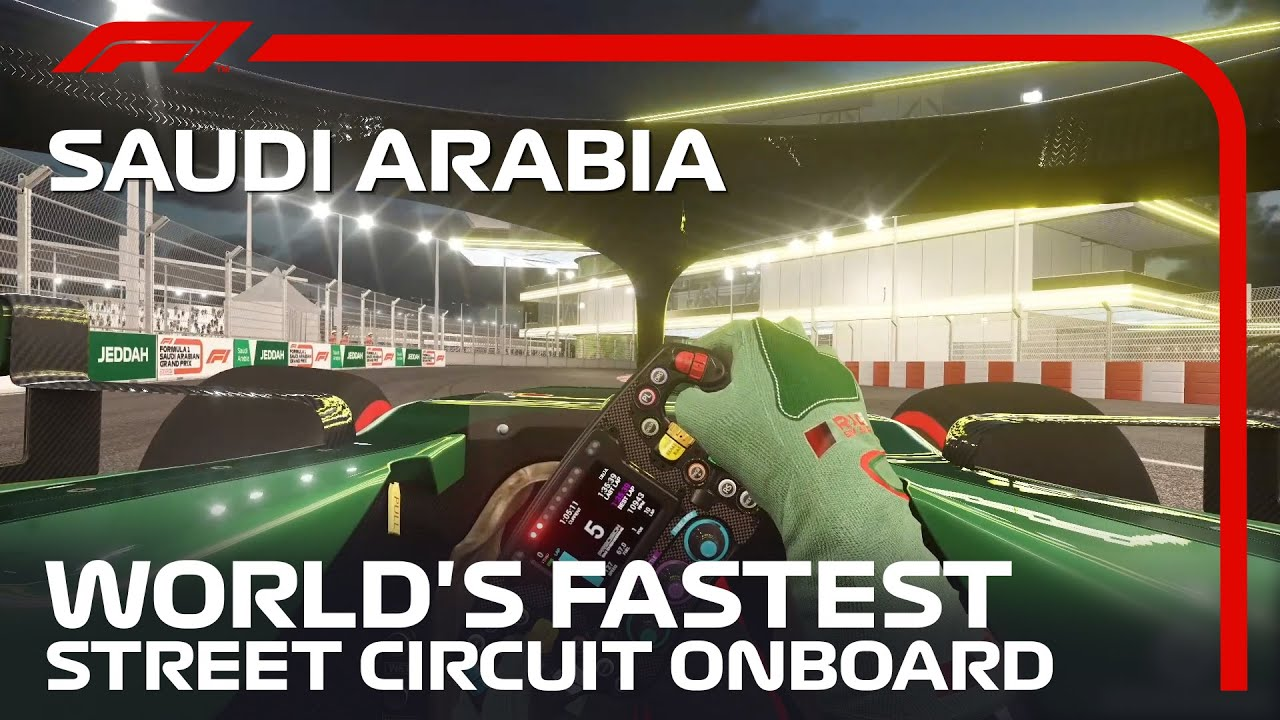 Formula 1 Lap At The Brand New Jeddah Street Circuit