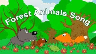 Forest Animals Song for Kids | Learning English from Early Childhood