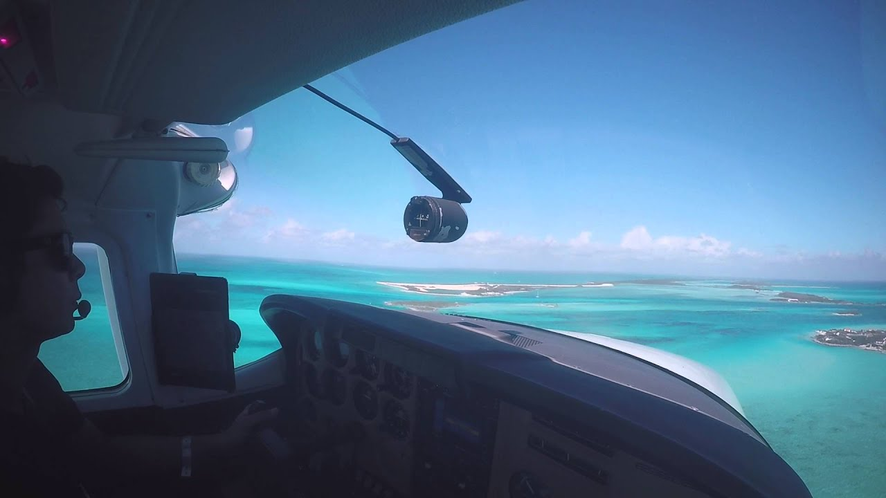 Landing at Norman's Cay in the Bahamas (MYEN)