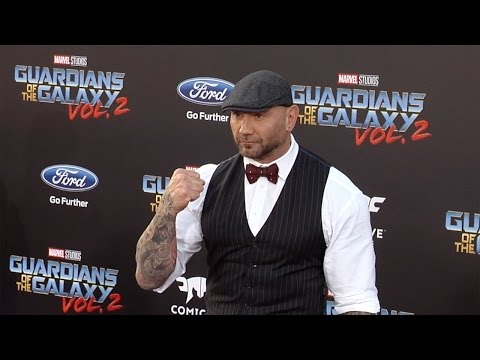 "Dave Bautista ""Guardians of the Galaxy Vol 2"" World Premiere"
