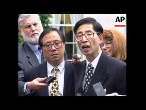 USA: LEADER OF HONG KONG'S DEMOCRATIC PARTY MARTIN LEE VISITS THE US