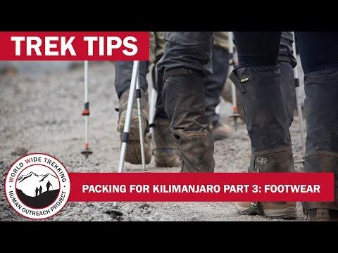 Kilimanjaro Packing Part 3: Footwear | Trek Tips