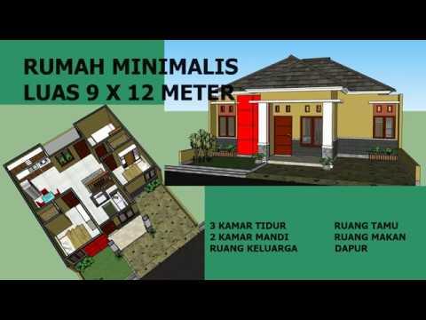 Rumah Minimalis 1 Lantai Luas Tanah 9 X 12 Meter 3 Kamar Tidur Youtube