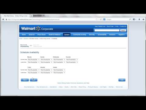 Walmart Application Online Video
